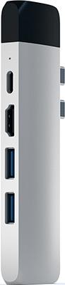 USB-хаб Satechi Aluminum Pro Hub with Ethernet & 4K HDMI серебристый (ST-TCPHES)