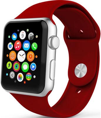 Ремешок спортивный Eva для Apple Watch 38/40 mm Красное вино (AVA001WR)