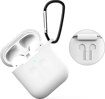 Фото - Чехол силиконовый Eva для наушников Apple AirPods 1/2 с карабином - Прозрачный (CBAP01TR) сифон для душевого поддона unicorn easyopen с латунным выпуском 1 1 2 d40 с отводом g311e