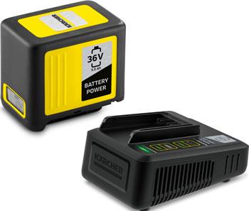 Комплект (аккумулятор, устройство быстрой зарядки) Karcher Battery Power 36/50 24450650 аккумулятор зарядное устройство karcher starter kit battery power 36 25 2 445 064