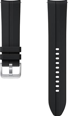 Спортивный ремешок Samsung Ridge Sport Band для Galaxy Watch3 (41мм)/Watch (42мм)/Watch Active2/Active чёрный (ET-SFR85SBEGRU)