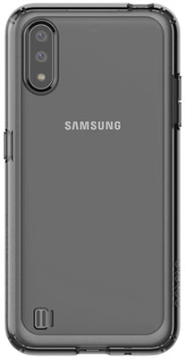 Чехол (клип-кейс) Samsung Galaxy A01 araree A cover черный (GP-FPA015KDABR)