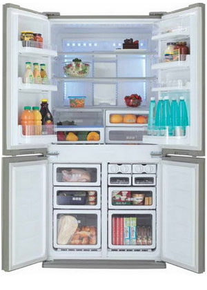 Фото - Многокамерный холодильник Sharp SJ-FP 97 VST sj fp 97 vst