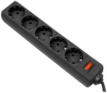 Сетевой фильтр Defender ES 3.0m (5роз.) black 99485