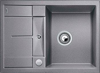 Кухонная мойка BLANCO METRA 45 S COMPACT SILGRANIT алюметаллик с клапаном-автоматом мойка кухонная blanco metra 6 s compact алюметаллик с клапаном автоматом 513553