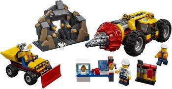 Фото - Конструктор Lego City Mining: Тяжелый бур для горных работ 60186 lego city 60185 конструктор лего город трактор для горных работ