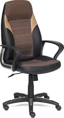 Компьютерное кресло Tetchair INTER (кож/зам/ткань черный/коричневый/бронзовый 36-6/3М7-147/21) кресло компьютерное tetchair ореон oreon доступные цвета обивки розовая ткань misty rose