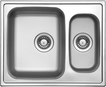 Кухонная мойка Florentina ПРОФИ 615.500.1K.08 нержавеющая сталь матовая кухонная мойка florentina профи 780 500 10 08 нержавеющая сталь декорированная чаша слева