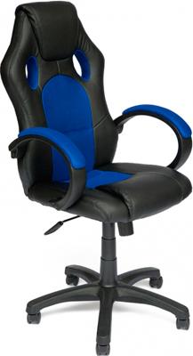 Кресло Tetchair RACER GT (кож/зам/ткань черный/синий 36-6/10) офисное кресло tetchair racer кож зам ткань черный серый 36 6 12