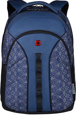 Рюкзак для города Wenger, 16'' синий со светоотражающим принтом полиэстер 35x27x47 см 27 л 610214, Китай  - купить со скидкой