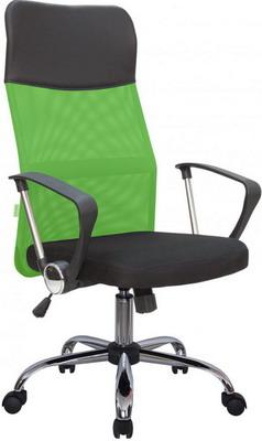 Кресло Riva Chair 8074 Чёрная ткань/Зеленая сетка