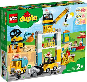 Конструктор Lego DUPLO ''Башенный кран на стройке''