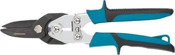 Фото - Ножницы по металлу Gross 78347 ''PIRANHA''усиленные 255 мм прямой рез сталь-СrMo двухкомпонентные рукоятки строительные ножницы правые 255 мм gross piranha 78351
