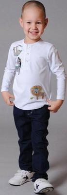 Джемпер Fleur de Vie 24-1870 рост 104 белый джемпер для мальчика sela цвет серый st 713 094 8112 размер 104