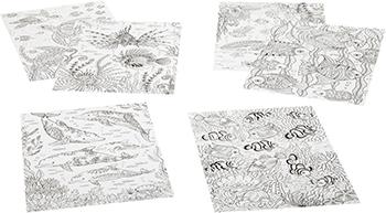 Набор для раскрашивания Bondibon Набор раскрасок антистресс Море 6 листов 30х21 см ВВ1715