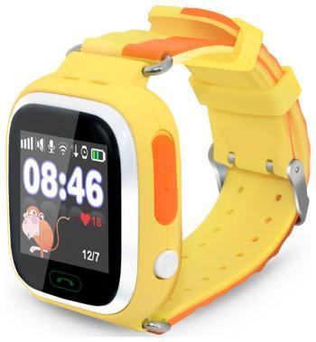 Детские часы-телефон Ginzzu 505 yellow 1.22'' Touch micro-SIM 14620 детские часы телефон ginzzu 16139 505 black 1 22 touch micro sim