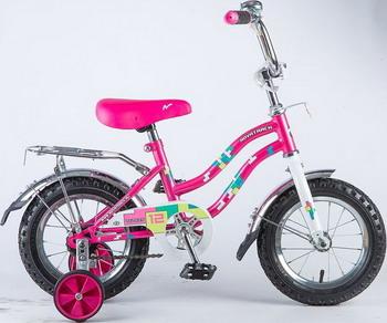Велосипед Novatrack 12 TETRIS розовый 121 TETRIS.PN8 велосипед novatrack tetris 16 16 розовый 161tetris pn8