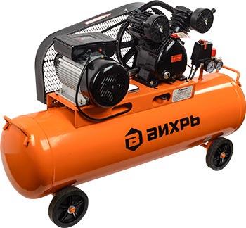 Компрессор Вихрь КМП 400/100 P черно-оранжевый 74/3/7 тюбинг formulazima вихрь цвет черный оранжевый диаметр 100 см