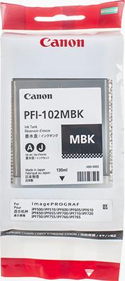 Фото - Картридж Canon PFI-102 MBK 0894 B 001 cветильник потолочный shatten karius 1032 102 05 e14 5x60w черный хром