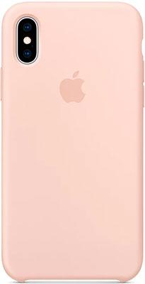 Чехол (клип-кейс) Apple Silicone Case для iPhone XS цвет (Pink Sand) розовый песок MTF82ZM/A