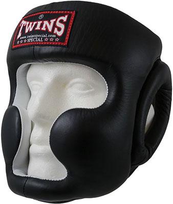 цена на Шлем боксерский Twins (кожа) (черный) размер L HGL-6-black-L