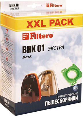 Набор пылесборников Filtero BRK 01 XXL Pack ЭКСТРА 6 шт цена в Москве и Питере