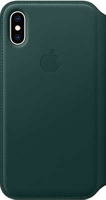 Чехол (клип-кейс) Apple Leather Folio для iPhone XS цвет (Forest Green) зелёный лес MRWY2ZM/A аксессуар чехол apple iphone xs leather folio forest green mrwy2zm a