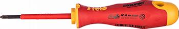 Отвертка диэлектрическая Felo Ergonic крестовая PH 0X60 41400190 отвертка felo ergonic крестовая ph 2x100 40220310