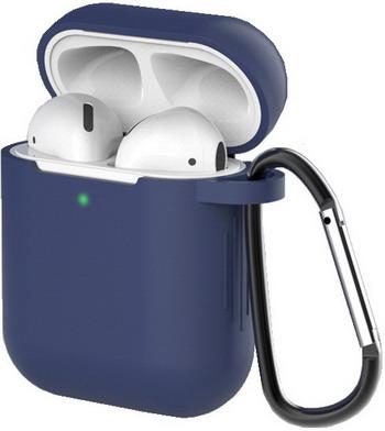 Фото - Чехол для наушников Eva для Apple AirPods 1/2 с карабином - Темно-Синий (CBAP40DBL) сифон для душевого поддона unicorn easyopen с латунным выпуском 1 1 2 d40 с отводом g311e
