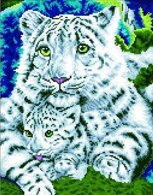 Алмазная мозаика Цветной ''Нежная хищница'' (40х50) на подрамнике  lg019