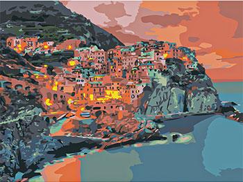 Фото - Картина по номерам Рыжий кот 30х40 см по номерам. СВЕТЯЩАЯСЯ МАНАРОЛА. Х-9133 рыжий кот картина по номерам маяк на море 30х40 см х 0412