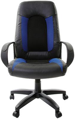 Кресло Brabix ''Strike EX-525'' экокожа черная ткань черная/синяя TW 531380