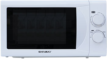 Микроволновая печь - СВЧ Shivaki SMW2020MW белый микроволновая печь свч shivaki smw2036ebg бежевый