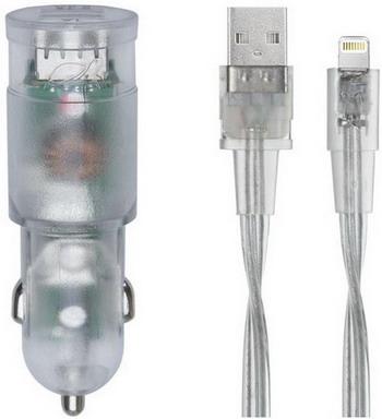 Автомобильное з/у + DАТА кабель Rivacase 2 USB / 3 4 A MFi Lightning VA4225 TD2