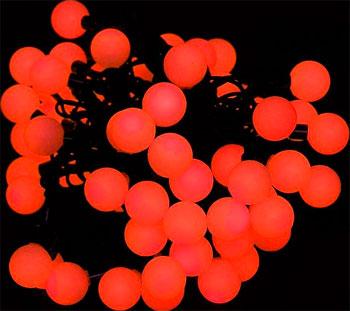 Гирлянда-нить Snowhouse ''БОЛЬШИЕ МУЛЬТИШАРИКИ'' красные OLDBL 100-R-E гирлянда snowhouse медведи 30 led multicolored ld030ww br