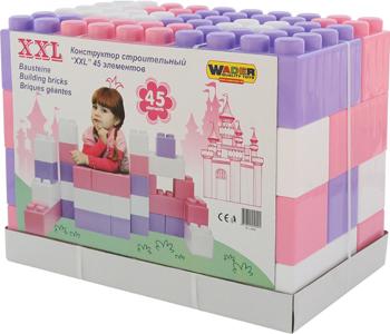 Конструктор Wader строительный ''XXL'' 45 элементов (v2) 40091_PLS игрушка wader super truck строительный 36540