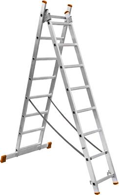 Лестница алюминиевая Вихрь двухсекционная ЛА 2х7 73/5/1/23 лестница вихрь лта 4х3 алюминий 3ступ h3 3м макс нагр 120кг 73 5 1 14