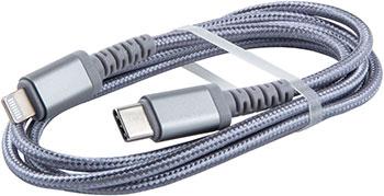 Кабель Red Line Type-C-Lightning MFI для Apple нейлоновая оплетка серебристый red line дата кабель usb type c 2 0 black нейлоновая оплетка