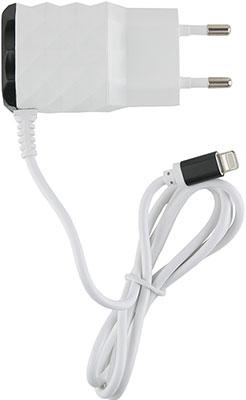 Сетевое зарядное устройство Red Line 2 USB и 8pin для Apple (модель NC-2.1AC) 2.1A черный сетевое зарядное устройство red line 2 usb и microusb модель nc 2 1ac 2 1a черный