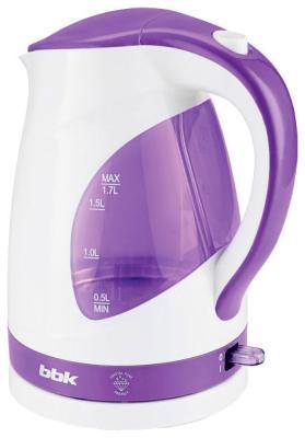 Чайник электрический BBK EK 1700 P белый/фиолетовый