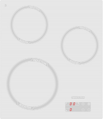 Встраиваемая электрическая варочная панель Zigmund amp Shtain CIS 029.45 WX