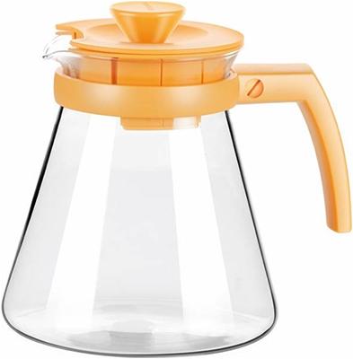 Фото - Чайник Tescoma TEO 1.25л с ситечками для заваривания желтый 646623 12 стеклянный чайник teo 1 25 л с ситечками для заваривания
