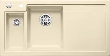 Кухонная мойка BLANCO 524140 AXON II 6 S (чаша слева) керамика глянцевый магнолия PuraPlus с кл.-авт. InFino кухонная мойка pegas 53 0 6 шлифованный глянцевый 530w ст