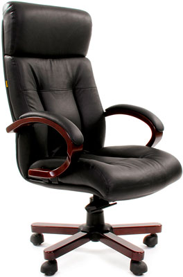 Офисное кресло Chairman 421 кожа черная