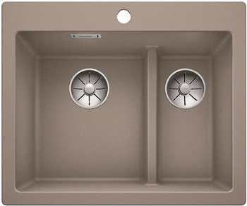 Кухонная мойка BLANCO PLEON 6 Split серый беж без клапана 521696 weissgauff fabio granit серый беж