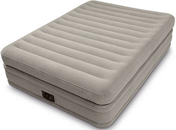 Кровать надувная Intex Elevated Airbed 152х203х51 встроенный насос 220 V 64446 цена