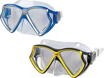 Фото - Маска для плавания Intex ''Silicone Aviator Pro'' 2 цвета от 8 лет 55980 набор для плавания intex аква маска трубка цвет синий