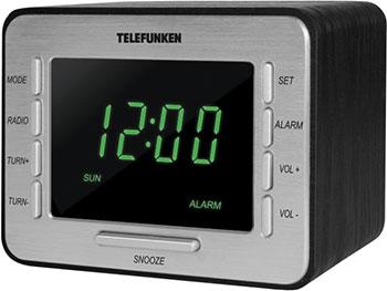 цена на Радиочасы Telefunken TF-1508 (черный c зеленым)