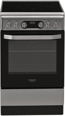Электроплита Hotpoint-Ariston HS5V5CMX/RU газовая плита hotpoint ariston hs5g1pmw ru