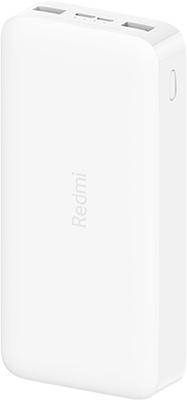 Внешний аккумулятор Xiaomi Mi Power Bank REDMI white 10000mAh (VXN4266CN) PB100LZM внешний аккумулятор mi wireless power bank 10000 ма ч черный